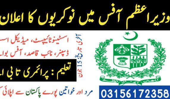 Jobs in Prime Minster Office UrduLight.com