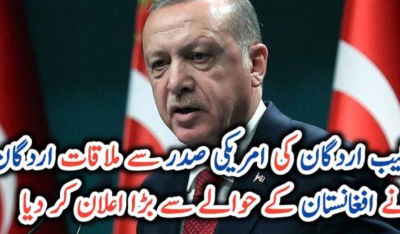 Erdogan offers to help US stabilise Afghanistan UrduLight.com